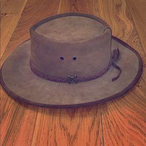 BC Australian steer hide hat. Medium